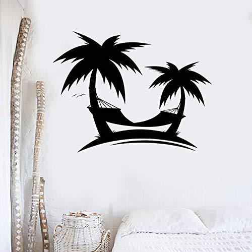 HGFDHG Palmera Playa Pared calcomanía Arte Mural Vacaciones Viajes océano Estilo casa decoración Interior Vinilo Pared Pegatina Hermosa