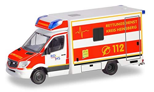 herpa 094962 Mercedes-Benz Sprinter RTW Rettungsdienst Kreis Heinsberg in Miniatur zum Basteln Sammeln und als Geschenk, Mehrfarbig