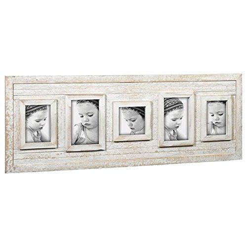 Mascagni Cadre photo multiple en bois WOODEN Multi Photo Frame Bianco