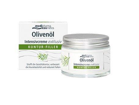 medipharma cosmetics Olivenöl Intensivcreme exklusiv Kontur-Filler Spar-Set 2x50ml. Strafft die Gesichtskontur, verbessert die Hautdichte und reduziert Falten.