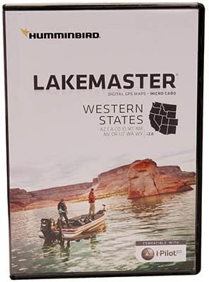 Humminbird LakeMaster Western States Edition Digital GPS Lake Maps, Micro SD Card, Version 2