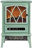 HCYY Chimenea eléctrica empotrada en la Pared, Calentador Interior con Efecto de Llama de carbón ardiente, Inserto con Panel de Control con Pantalla táctil, Estufa eléctrica