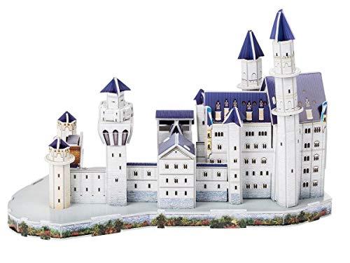 Playtive 3D Puzzle - die weltberühmte Sehenswürdigkeit zum Nachbauen Schloss Neuschwanstein