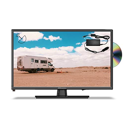 EMtronics 22' Inch Full HD 1080p 12 Volt TV with DVD, Freeview T2 HD, USB PVR and Satellite Tuner with 12v / 24v Plug