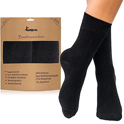 lampox Bambussocken (6 Paar) Atmungsaktiv Socken Business Sport Laufen Reduziert Schweiß (39-42,...