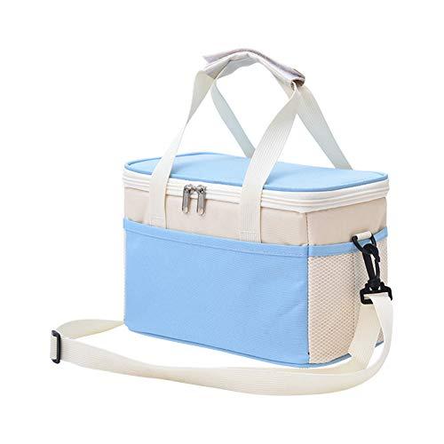 iTemer Bolsa térmica para el almuerzo, de moda, con aislamiento térmico, para camping, compras, gimnasio, viajes, picnic (azul)