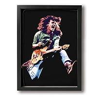 Van Halen ポスター アートパネル アートフレーム モダン ポスター バンクシー フレーム装飾画 キャンバス絵画 アートボード 部屋飾り 壁の絵 壁掛け ソファの背景絵画 木枠セット 額入り(30cm*40cm)
