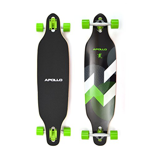 Apollo Longboard SUVA Flex III Special Edition Komplettboard mit High Speed ABEC Kugellagern inkl. Skate T-Tool, Drop Through Freeride Skaten Cruiser Boards