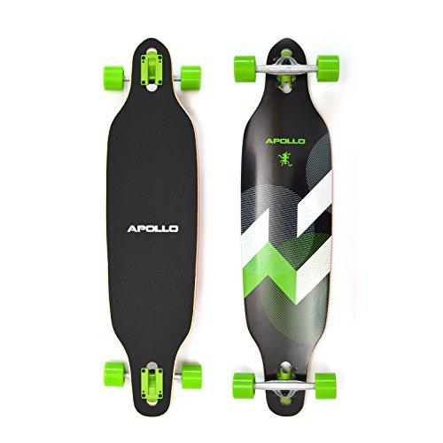 Apollo Longboard SUVA Special Edition Tabla Completa con rodamiento de Bolas High Speed ABEC Incl. Skate T-Tool, Drop Through Freeride Skate Cruiser Boards