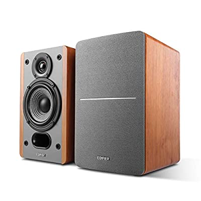 Edifier P12 Passive Bookshelf Speakers - 2-way Speakers with Built-in Wall-Mount Bracket - Wood Color - Pair - Needs amplifier or receiver to operate - Receiver/Amplifier Sold Separately by Edifier