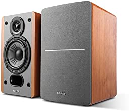 Edifier P12 Passive Bookshelf Speakers - 2-Way Speakers with Built-in Wall-Mount Bracket - Wood Color, Pair - Needs Amplifier or Receiver to Operate