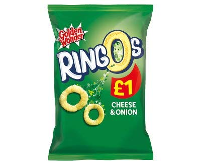 Golden Wonder Ringos Cheese & Onion 55g x 14 Bags