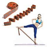 DeHub Bandas Elasticas Fitness, Banda de Estiramiento para Ni&Ntilde s y Adultos, Banda Elástica de Resistencia para Pilates,Yoga,Fitness,Gimnasia,Crossfit y Danza. (Naranja)