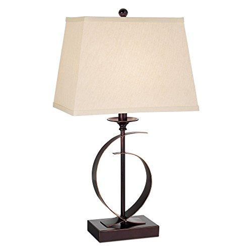 Pacific Coast Lighting 87-6180-22 Novo Dark Bronze 1-Light 100W Table Lamp - Set of 2