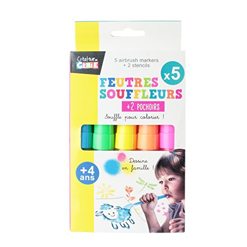Créateur de génie EC3233 Feutre souffleur, PP, Multicolore, 15,3 x 2 x 1,7 cm