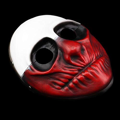 XWYWP Mscaras Halloween Mscara Resina el atraco Cosplay Horror Horror Payaso Moda Cosplay Carnaval Traje Hombre White