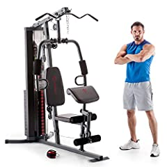 PREMIUM STEEL CONSTRUCTION – This home gym system is made with heavy-duty steel tubing and reinforced with guard rods that hold weight in place during workouts. WEIGHT STACK LOCK – This gear comes with a 150-pound selectorized weight stack that can b...
