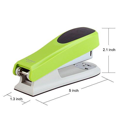 Comix B3027 Fashionable Stapler 20 Sheets Capacity (Green) Photo #4