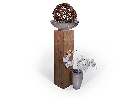 moebel-eins Blumensäule Fichte massiv Dekosäule Holzsäule Säule Landhaus Design (eichefarbig, 17 x 17 cm | 80 cm)
