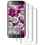 PUUDUU Cristal Templado para Samsung Galaxy S7 Edge, [3 Piezas] Protector de Pantalla para Samsung Galaxy S7 Edge, TPU Screen Protector, Alta Definición, Sin Burbujas, Anti-Scratches