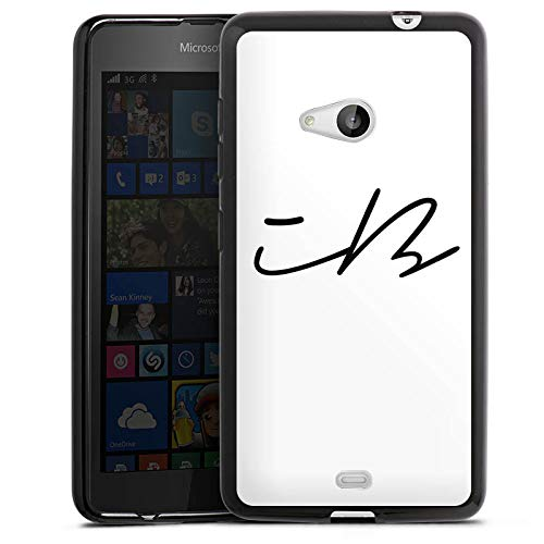 DeinDesign Silikon Hülle kompatibel mit Microsoft Lumia 535 Dual SIM Hülle schwarz Handyhülle iBlali Youtuber YouTube