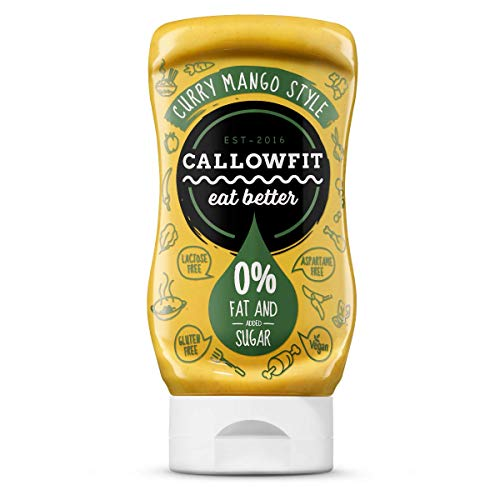CALLOWFIT - Low Carb Sauce 0% Fat & Zucker - Diätsoße - CURRY MANGO STYLE 300ml