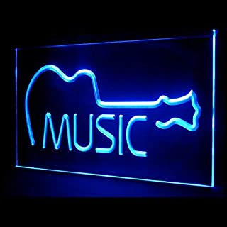 tigerneon 140022 Music Acoustic Guitar Awesome Musical Bar Live Display LED Light Sign