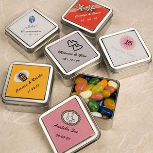Clear Top Mint Tin Favors, 100