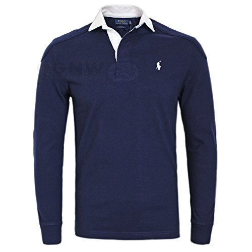 Ralph Lauren Polo Hombre Lujo Puntada Doble Camiseta de Rugby/Top S/M/L/XL/XXL a...