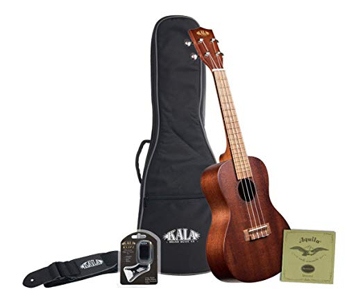 Kala KA-15T Satin Mahogany Tenor Ukulele with Bag, Strap, Strings and Tuner