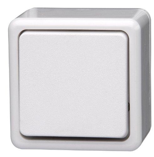 Kopp 513602005 Uni Versalschalter (Aus/Wechselschalter) Aufputzprogramm Standard, 10 A, 250 V
