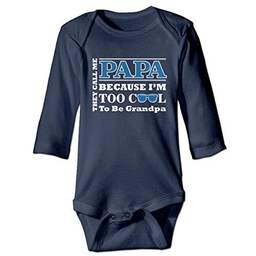U are Friends Ils m'appellent Papa Parce Que Too Girl Garçons Bébé Barboteuse T-Shirts Tout-Petits pour Bébés(12M,Marine)