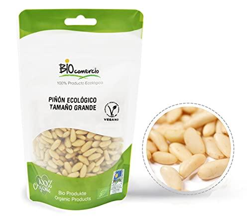 BIOCOMERCIO | Piñón Ecológico Tamaño Grande | Piñones Grandes| 200 gramos | Piñones enteros | Frutos secos | BIO