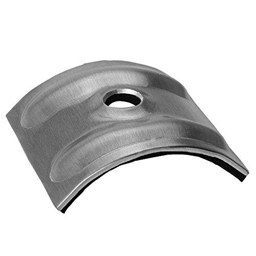 100 Kalotten blank Aluminium 24° für Sinus Profil 76/18 Wellplatten Lichtplatten
