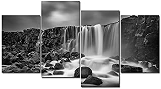 Best black and white waterfall painting Reviews