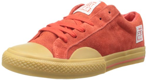 Vision Street Wear Women's Suede LO-W, Red/Gum, 7 M US