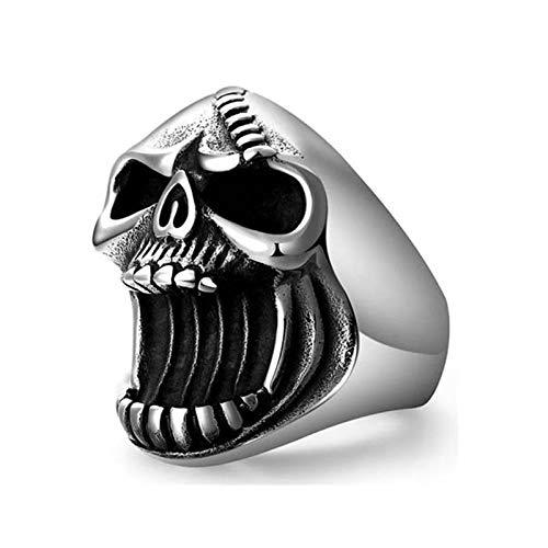 EzzySo Flaschenöffner Ring, europäische und amerikanische Mode können Bier Trend Schädel Punk-Stil Ring Ring Schmuck (2 Stück) öffnen,13