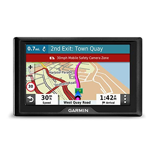 Garmin Drive 52 UK MT-S 5 Inch Sat Nav with Map Updates for UK and Ireland, Live Traffic and Speed Camera and Other Driver Alerts (Refurbished)