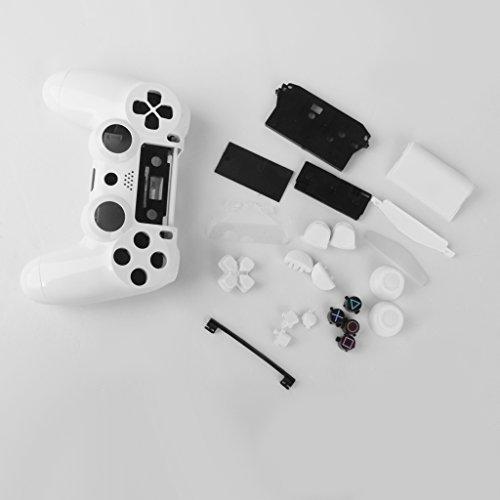Sharplace 2X Vollständige Gehäuse Ersatzteile für Sony Playstation4 Ps4 Wireless Controller - Weiß