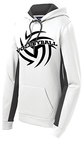 Volleyball Performance Hoodie (Medium, White/Dark Smoke Grey)