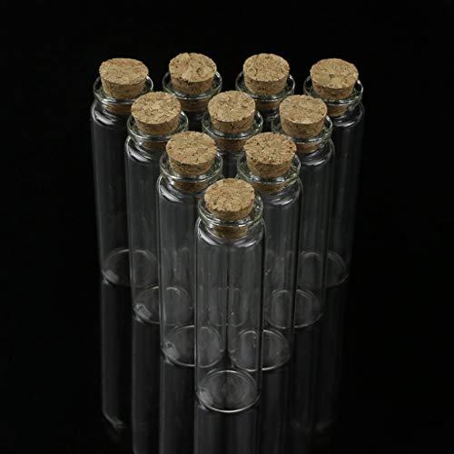 ATATMOUNT 10 Uds Mini Frasco de Vidrio para Botella de Deseos con tapón de Corcho, Colgante de Almacenamiento de 20 ml