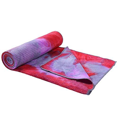 KJBGS Accesorios de Fitness Cubierta de la Estera de Yoga Antideslizante Toalla Antideslizante Microfibra de Microfibra Tamaño 183CM * Manta de Toalla 63 cm Conveniente y Duradero (Color : 4)