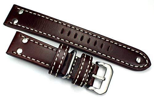 Sulla AW - Cinturino per orologio da uomo, in pelle, 22 mm, colore: marrone...