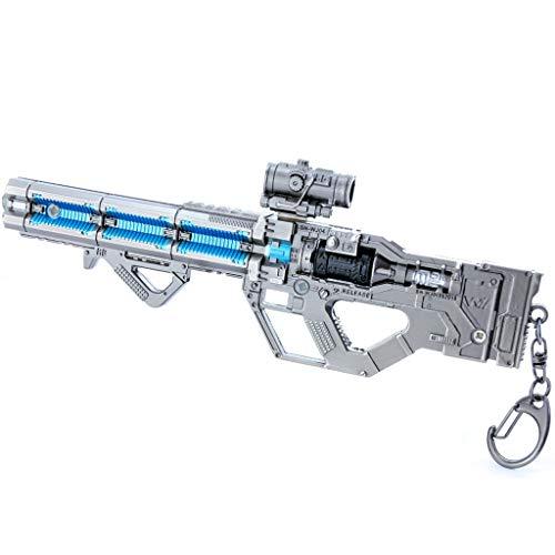 LINLUO Legends Games 1/6 metal estragos rifle pistola modelo figura de acción juguetes colección mochila colgante suministros decoración de mesa artículos estantes decorar