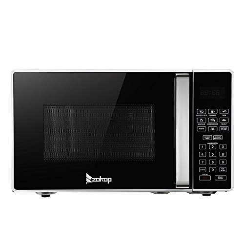 Small Microwave Oven Countertop 20.7 Cu.Ft/900W 360° Rotating Microwave Toaster Oven Air Fryer 6 Cooking LED Digital Display Child Safety Lock