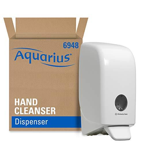 Aquarius Seifen-Spender 6948 – 1x wandmontierter Seifenspender für Handseife, weiß (Nachfüllmenge 1L)