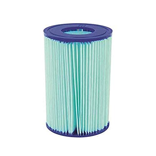 Bestway 58476E Flowclear Anti-Microbial Filter Cartridge Replacement | for Type III or A/C Pool Pumps, Blue