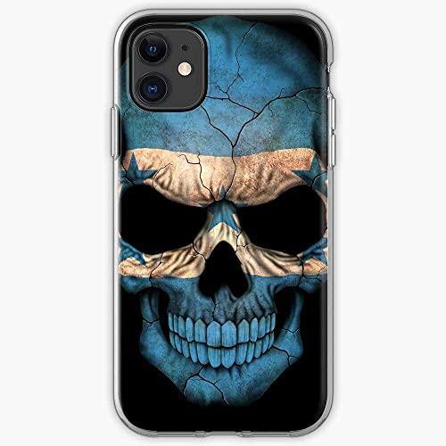 Fundas para teléfono Pure Clear compatibles con iPhone 12/11 Pro Max 12 mini SE X / XS Max XR 8 7 6 10s Plus Case for Patriotism Pride Patriotic Honduras Skulls Skull Honduran Funda protectora TPU