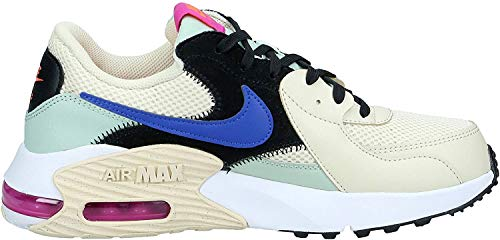 Nike Damen Air Max Exceed Sneaker, FOSSIL/Hyper Blue-Pistachio FR