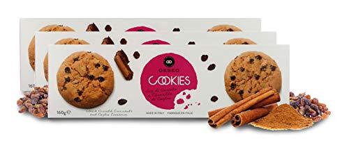 Deseo 3 Confezioni di Biscotti di frolla al Burro con uvetta e Cannella, Cookies Artigianali - 3 x 160g